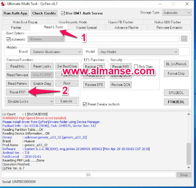 remove frp Huawei Y7 Prime TRT-L21A