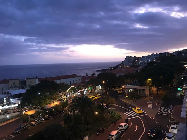 Madeira, Night, Sunset, Lido,