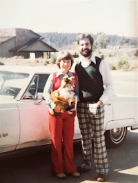Piper and I with our Sheltie Mollie in 1980!