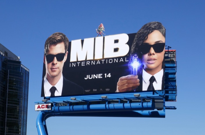 Men in Black International cut-out billboard