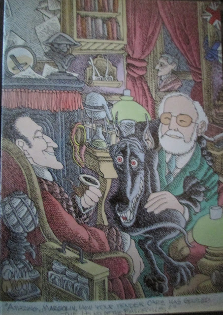 Gahan Wilson draws Jerry Margolin and Sherlock Holmes
