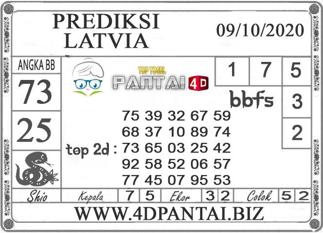 PREDIKSI TOGEL LATVIA PANTAI4D 09 OKTOBER 2020