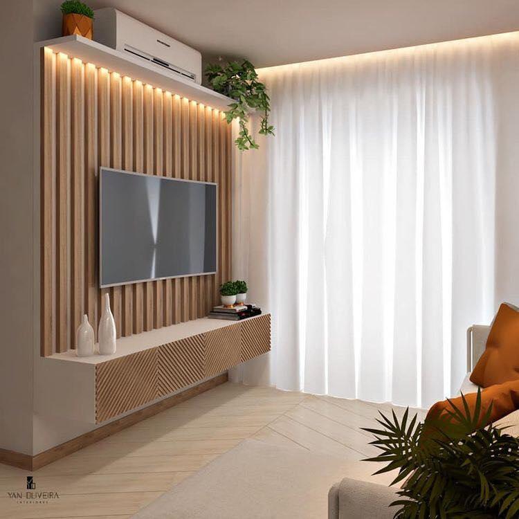 Flat Screen Tv Feature Wall Design Ideas For Modern Living Room