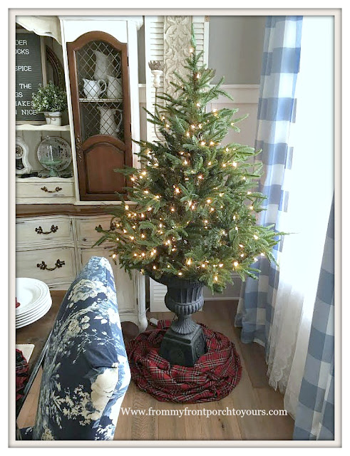 Christmas Tree-Urn-4.5 ft-french country-From My Front Porch To Yours