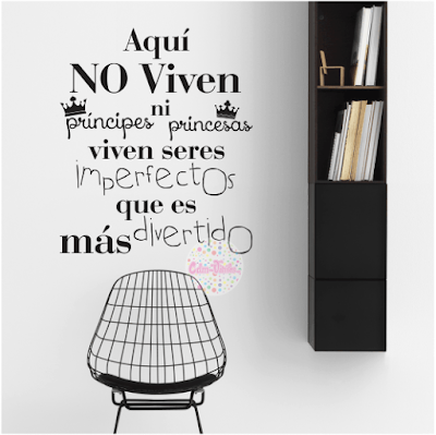 vinilo decorativo pared frase tipografico Imperfectos
