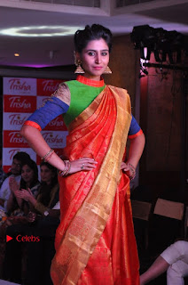 South Indian Celebrities Pos at Love For Handloom Collection Fashion Show  0014.jpg
