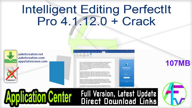 Intelligent Editing PerfectIt Pro 4.1.12.0 + Crack