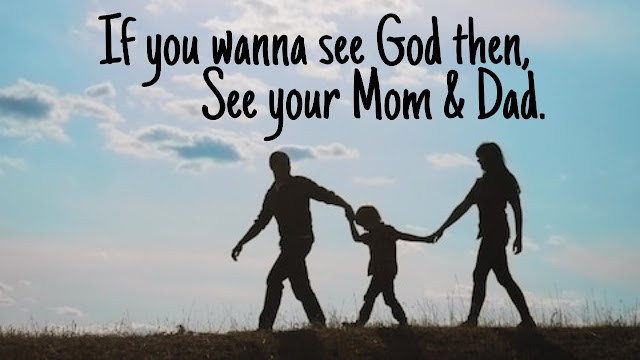 Love u mom dad status