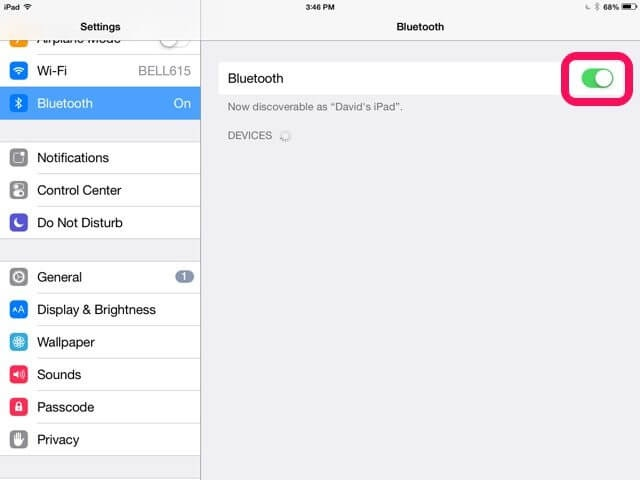 Cara Mengaktifkan atau Menonaktifkan Bluetooth di iPad
