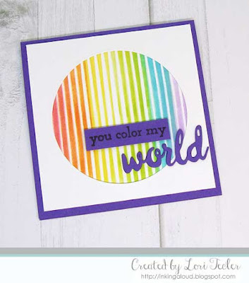 You Color My World card-designed by Lori Tecler/Inking Aloud-stamps and dies from Altenew