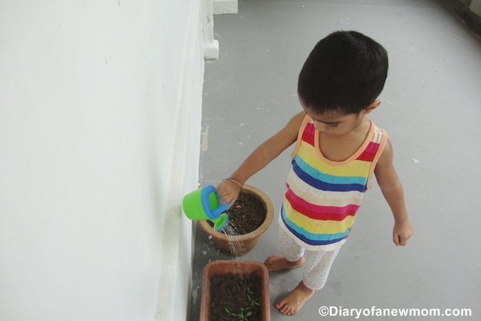 Watering plants is the best activity! :)
