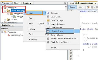 form penggajian karyawan java netbeans dengan menggunakan jframe, logika if, radio botton, text box