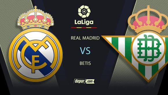 VER YA Real Madrid vs. Betis EN VIVO por LaLiga: canales TV