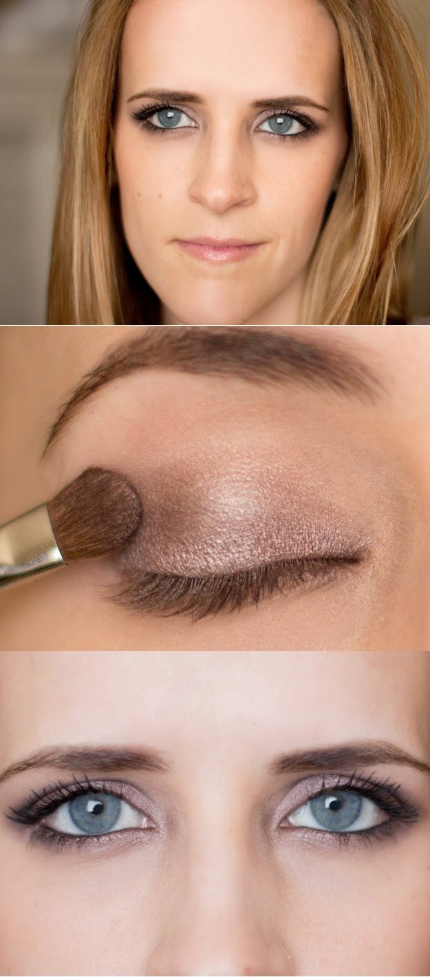 15 easy makeup tutorials for beginners that will help any clueless natural nude shadow eye makeup via lulus baditri Image collections