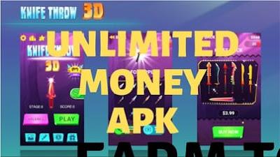 Knife Throw 3D Unlimited Money Mod Apk