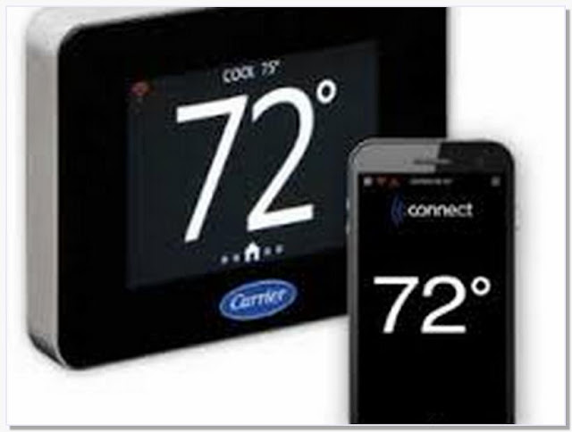 Commercial thermostat with wireless remote sensor
