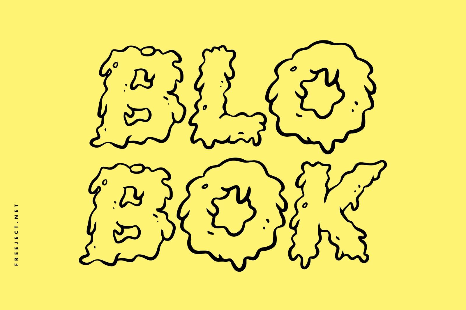 تحميل خط بلوبوك جريم الرائع - BLOBOK Grime Font