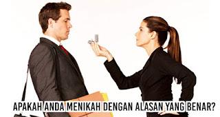 Tanyakan pada diri sendiri, Apakah Anda menikah dengan alasan yang benar? sebelum memutuskan menikah dengannya
