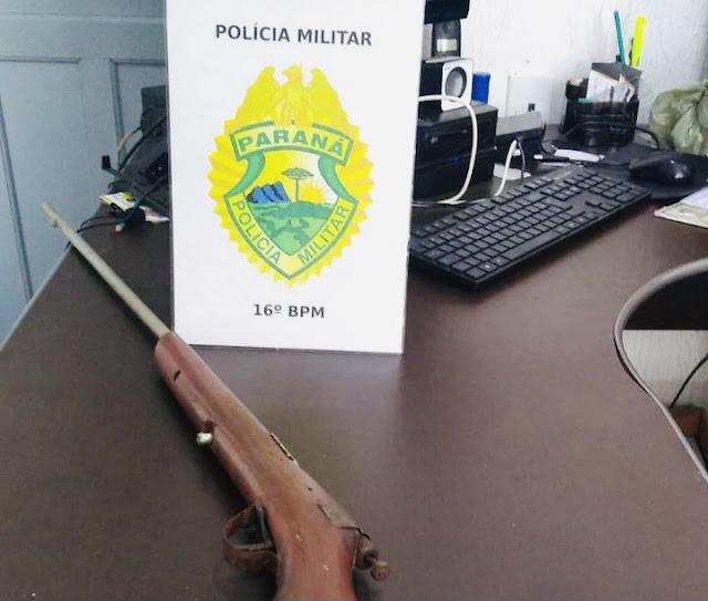 Manoel Ribas: Durante afastamento de lar, PM apreende arma de fogo