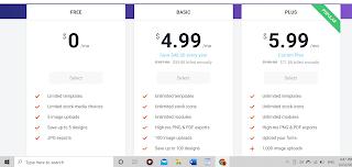 DesignCap pricing plans 3