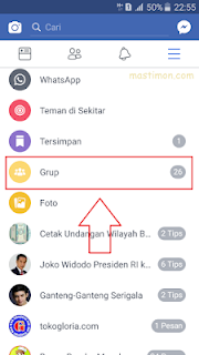 How to log out of Facebook GROUP via Android HP
