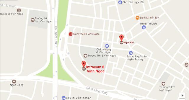 Vị trí dự án chung cư Intracom 8 Vĩnh Ngọc