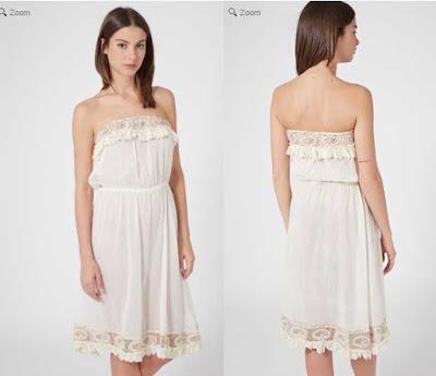 vestido bustier de color blanco barato