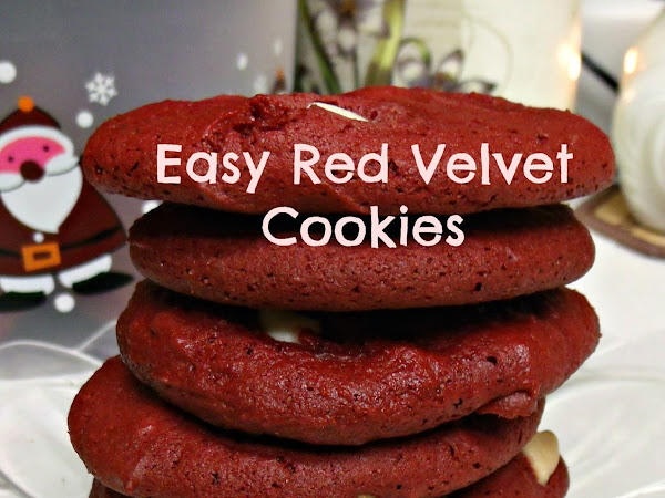 12 Days of Christmas yummies and treats :  Easy Red Velvet Cookies with White Chocolate Chips