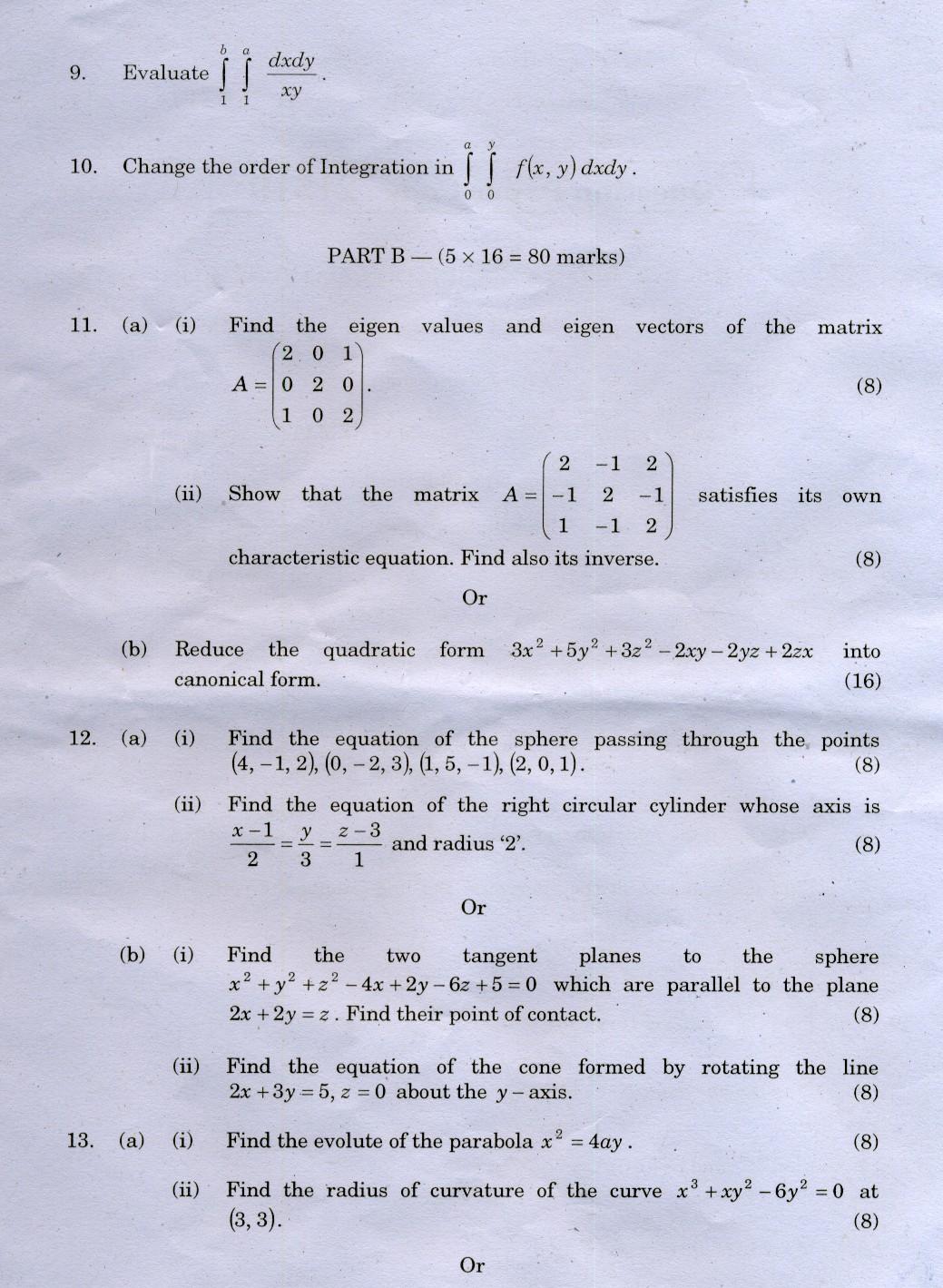 MA2111 SYLLABUS PDF