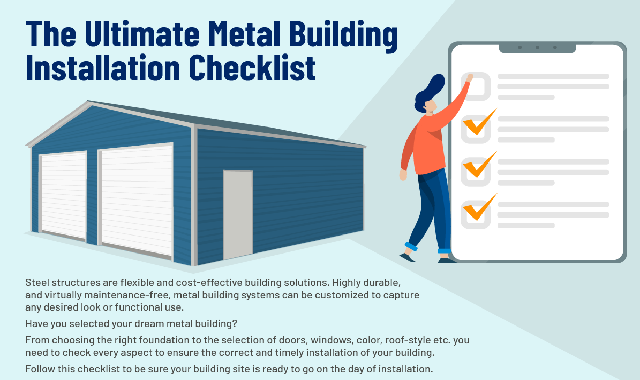 The Ultimate Metal Building Installation Checklist  #infographic