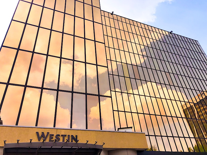 Westin Chattanooga hotel gold exterior