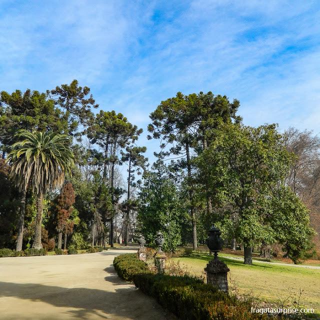 jardins da vinícola Concha y Toro, Chile