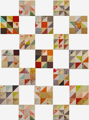 Scrappy Triangle Quilt by Beth Strub