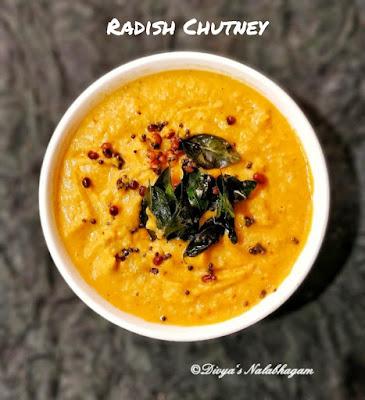 Mullangi chutney/ Radish Chutney / Mullangi Thuvaiyal
