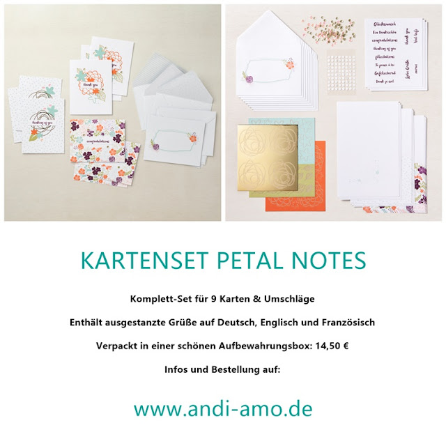 Stampin Up Kartenset Petal Notes Produktlinie