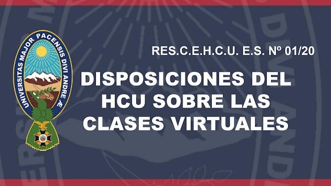 La UMSA informa: Durante las clases virtuales no se evaluará ni s considerarán los temas como avanzados