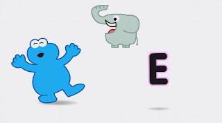 animated Cookie Monster sings E - Elephant Song. Sesame Street Alphabet Songs