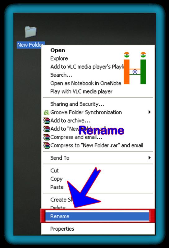 rename a folder name