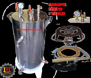 Harga Setrika Uap Gas Boiler Indah Mesin