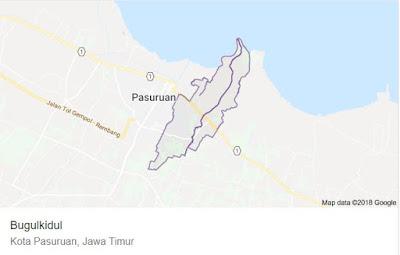 Lihat Peta Kecamatan Bugul Kidul Paasuruan di Google Map
