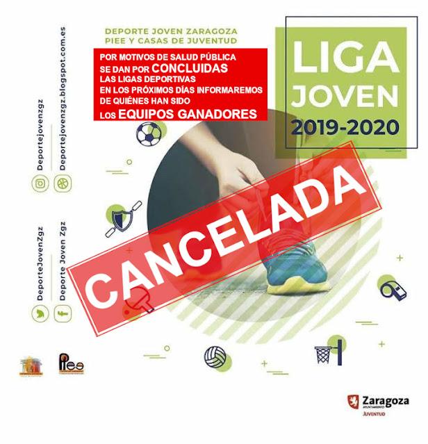 AVISO IMPORTANTE: La liga Joven ZGZ Temp 2019-2020 se cancela