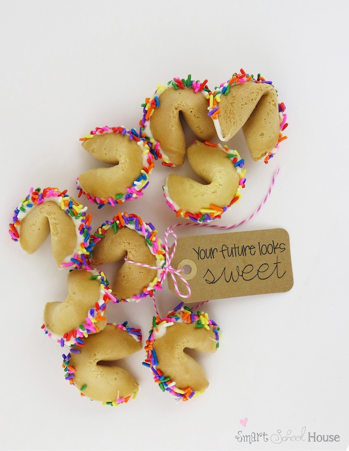 how to make a fortune cookie with sprinkles