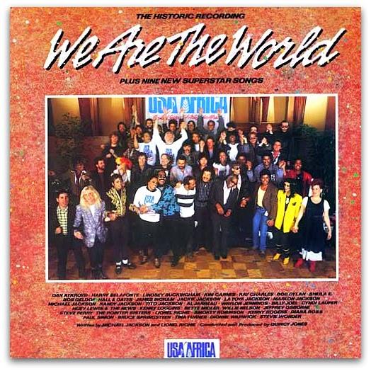 """30 Anos de """"We Are the World"""": A Capa do Single"""