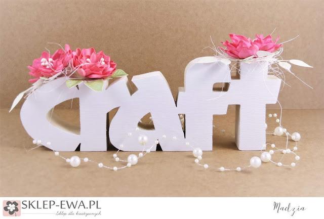 craft - drewniany napis