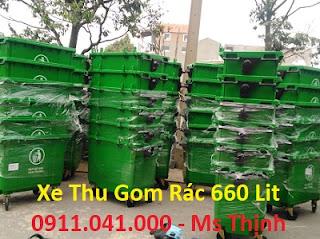 Thùng rác công cộng 120l nhựa HDPE giá rẻ nhất hiện nay lh 0911.041.000 2