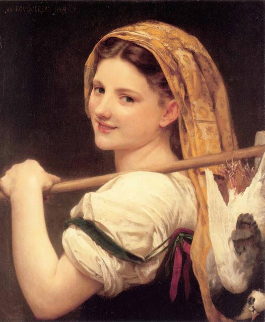 Адольф Вильям Бугро - Возвращение с рынка (1869)