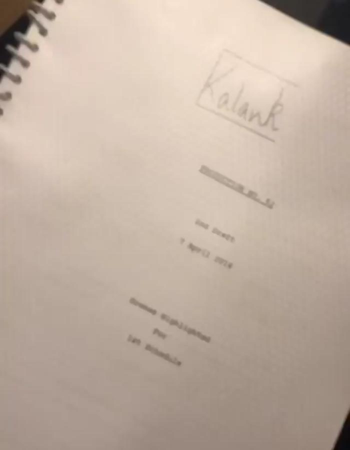 Kalank script