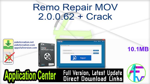 Remo Repair MOV 2.0.0.62 + Crack