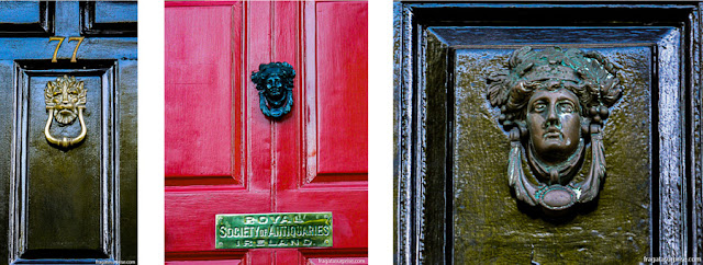 Detalhes das portas georgianas de Dublin