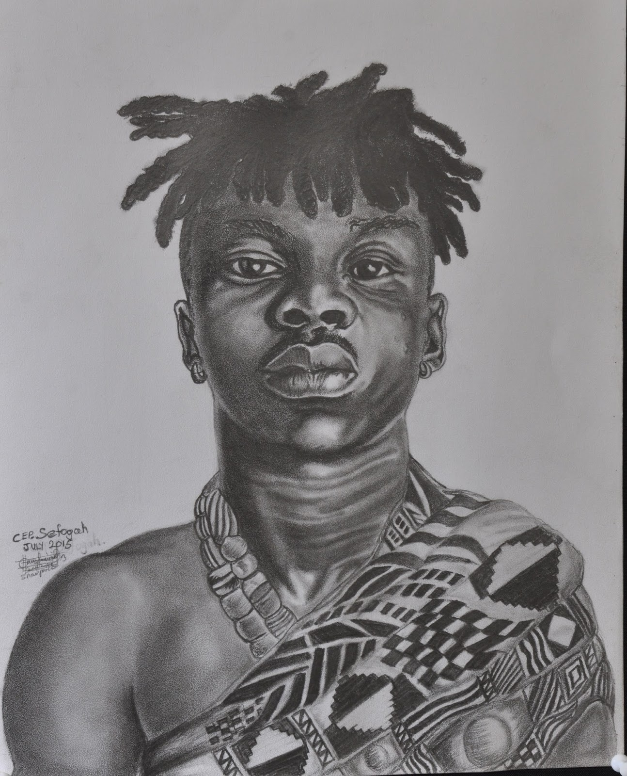 Drawing of stonebwoy under town